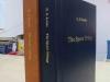 тиснение на обложке книги в твердом переплете